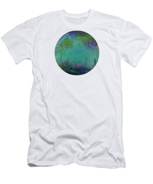 The City In The Distance Men's T-Shirt (Slim Fit) by Mary Wolf