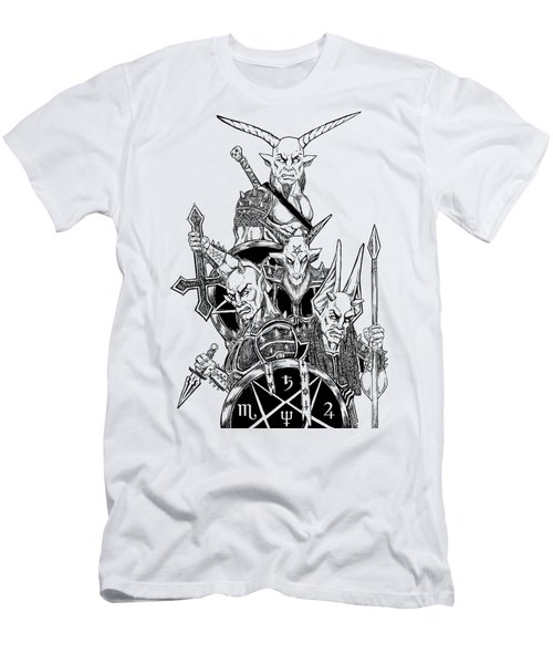 The Infernal Army White Version Men's T-Shirt (Slim Fit) by Alaric Barca