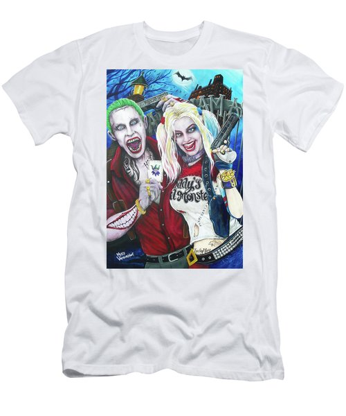 The Joker And Harley Quinn Men's T-Shirt (Slim Fit) by Michael Vanderhoof