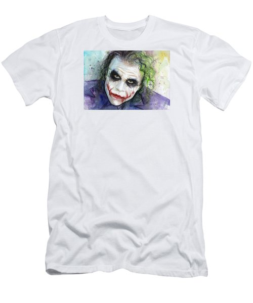 The Joker Watercolor Men's T-Shirt (Slim Fit) by Olga Shvartsur