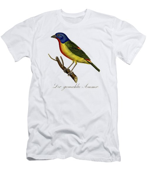 The Painted Bunting Men's T-Shirt (Slim Fit) by Unknown