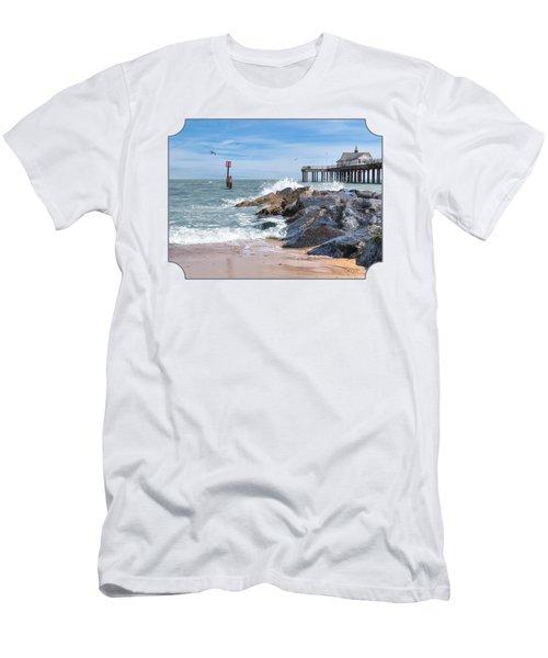 Tide's Turning - Southwold Pier Men's T-Shirt (Slim Fit) by Gill Billington