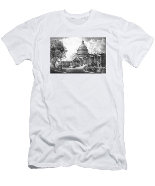 United States Capitol Building Men's T-Shirt (Slim Fit) by War Is Hell Store