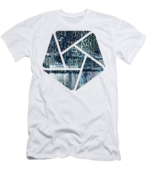 Urban-art Nyc Brooklyn Bridge I Men's T-Shirt (Slim Fit) by Melanie Viola