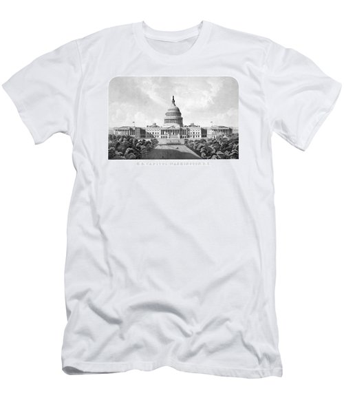Us Capitol Building - Washington Dc Men's T-Shirt (Slim Fit) by War Is Hell Store