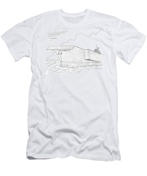 U.s.s. Deja Vu Men's T-Shirt (Slim Fit) by Mick Stevens