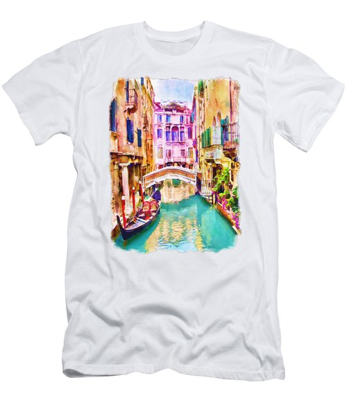 Venice Canal 2 Men's T-Shirt (Slim Fit) by Marian Voicu