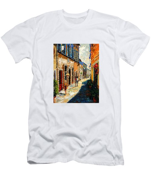 Warmth Of A Barcelona Street Men's T-Shirt (Slim Fit) by Andre Dluhos