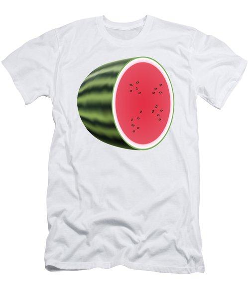 Water Melon Men's T-Shirt (Slim Fit) by Miroslav Nemecek