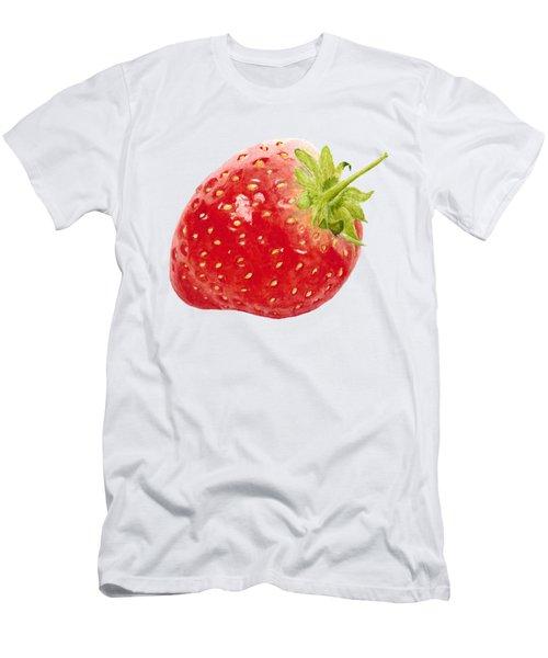 Watercolor Strawberry Men's T-Shirt (Slim Fit) by Kathleen Skinner