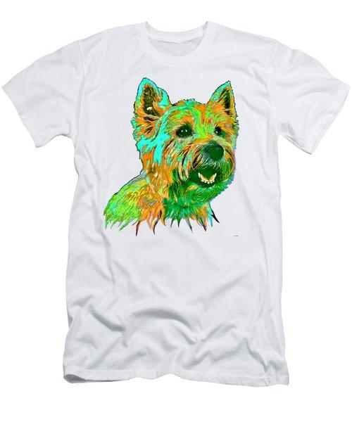 West Highland Terrier Men's T-Shirt (Slim Fit) by Marlene Watson