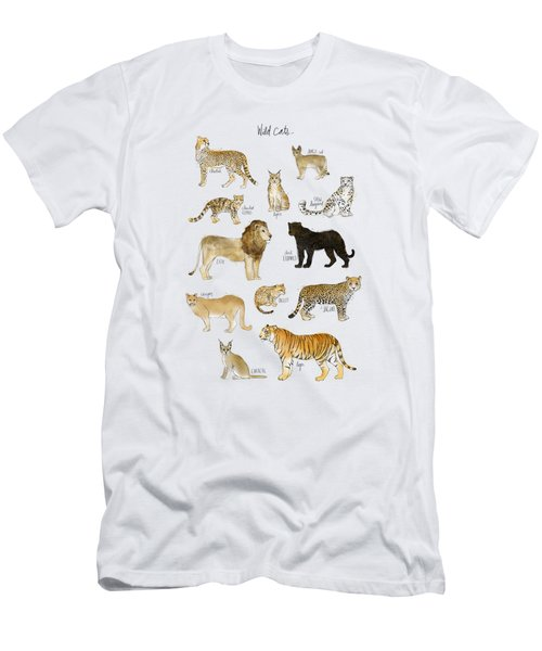 Wild Cats Men's T-Shirt (Slim Fit) by Amy Hamilton