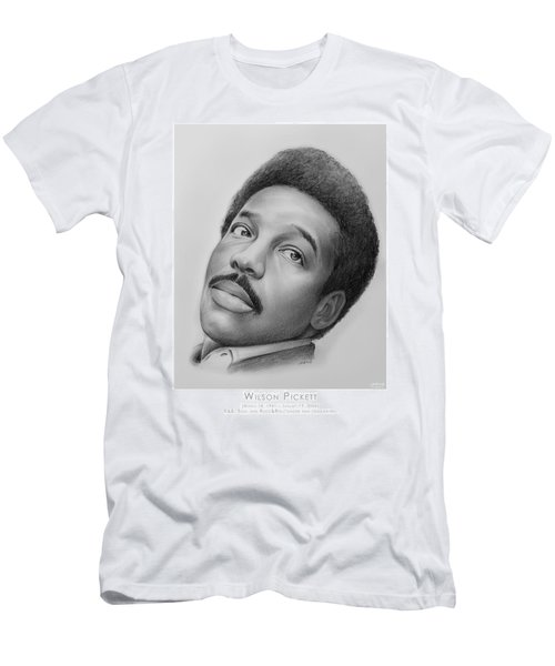 Wilson Pickett Men's T-Shirt (Slim Fit) by Greg Joens