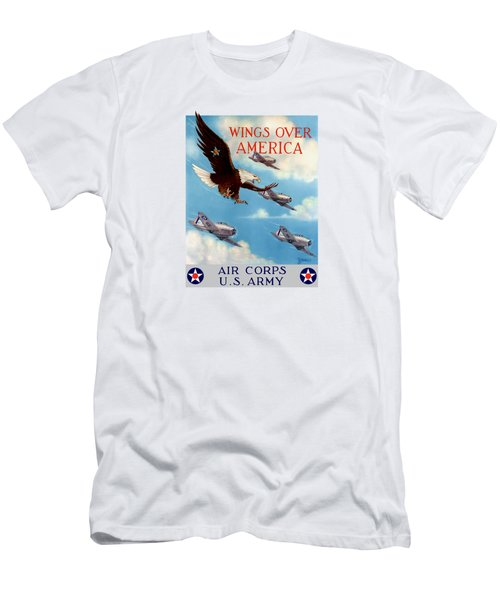 Wings Over America - Air Corps U.s. Army Men's T-Shirt (Slim Fit) by War Is Hell Store