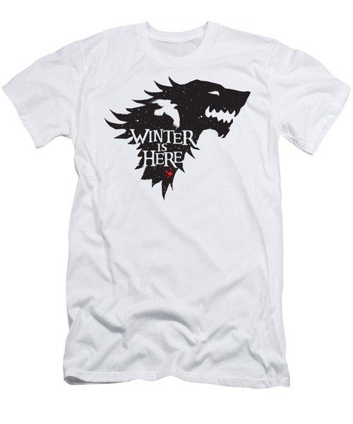Winter Is Here Men's T-Shirt (Slim Fit) by Edward Draganski