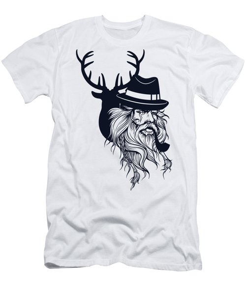 Wise Wild Men's T-Shirt (Slim Fit) by Argd