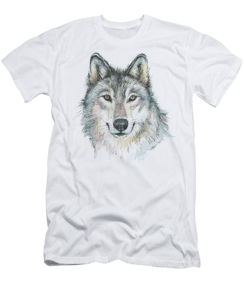 Wolf Men's T-Shirt (Slim Fit) by Olga Shvartsur