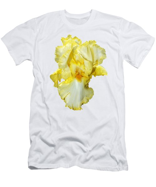 Yellow Mist Iris Men's T-Shirt (Slim Fit) by Phyllis Denton