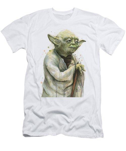 Yoda Watercolor Men's T-Shirt (Slim Fit) by Olga Shvartsur