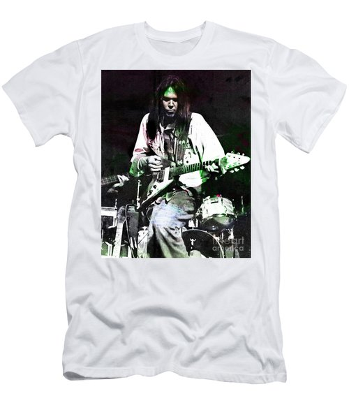 Young Neil Men's T-Shirt (Slim Fit) by John Malone
