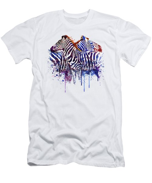 Zebras In Love Men's T-Shirt (Slim Fit) by Marian Voicu