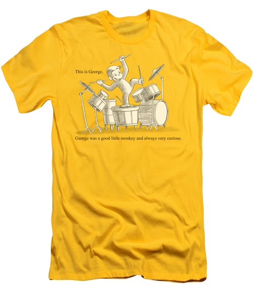 Curious George - This Is George Men's T-Shirt (Slim Fit) by Brand A