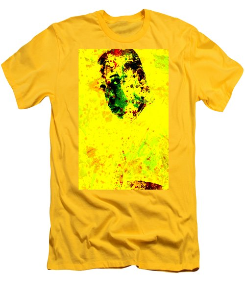 Jay Z Paint Splash Men's T-Shirt (Slim Fit) by Brian Reaves