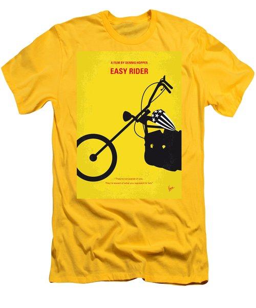 No333 My Easy Rider Minimal Movie Poster Men's T-Shirt (Slim Fit) by Chungkong Art