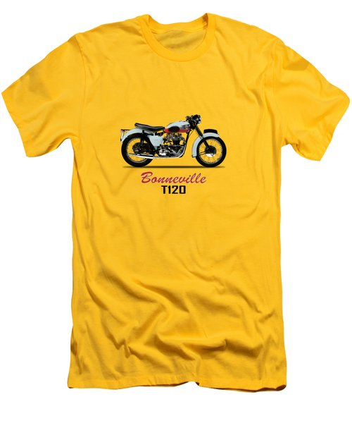 1959 T120 Bonneville Men's T-Shirt (Slim Fit) by Mark Rogan