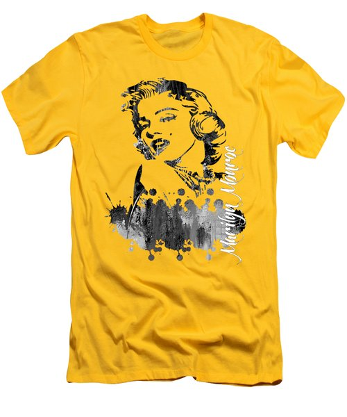 Marilyn Monroe Collection Men's T-Shirt (Slim Fit) by Marvin Blaine