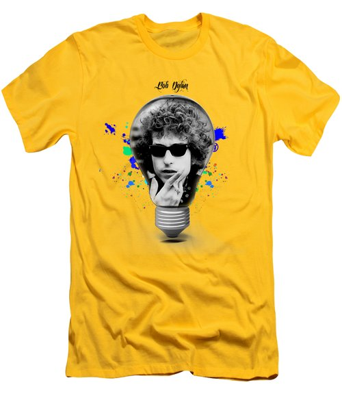 Bob Dylan Collection Men's T-Shirt (Slim Fit) by Marvin Blaine