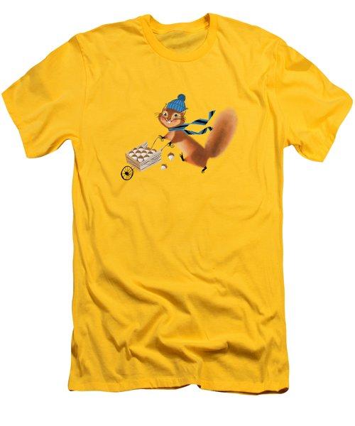 Acorn Industrialist Men's T-Shirt (Slim Fit) by Little Bunny Sunshine