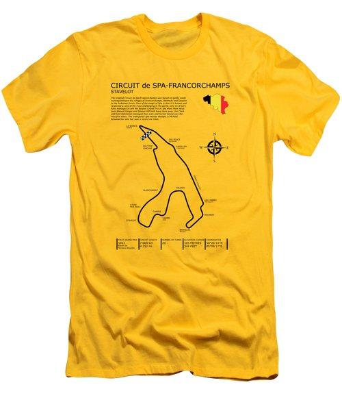 Spa Francorchamps Men's T-Shirt (Slim Fit) by Mark Rogan