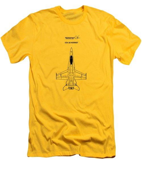 The F-18 Hornet Men's T-Shirt (Slim Fit) by Mark Rogan