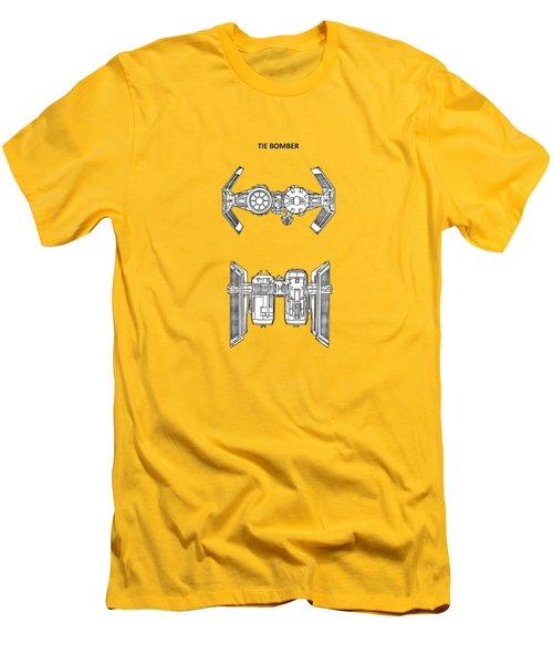Star Wars - Spaceship Patent Men's T-Shirt (Slim Fit) by Mark Rogan