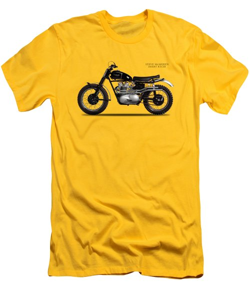 The Steve Mcqueen Desert Racer Men's T-Shirt (Slim Fit) by Mark Rogan