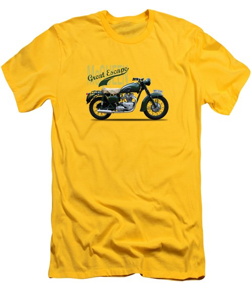 The Great Escape Motorcycle Men's T-Shirt (Slim Fit) by Mark Rogan
