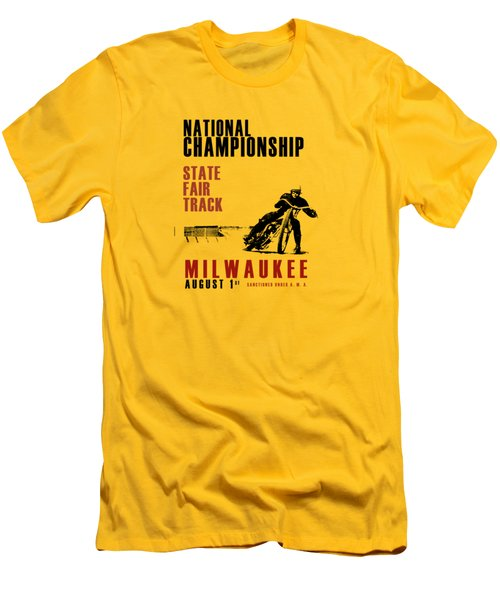 National Championship Milwaukee Men's T-Shirt (Slim Fit) by Mark Rogan