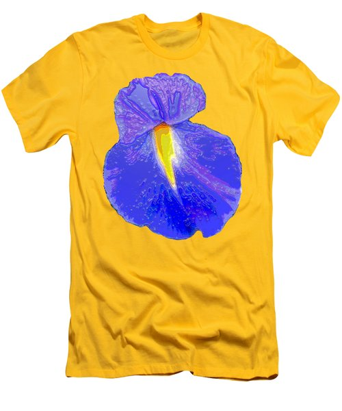 Big Mouth Iris Men's T-Shirt (Slim Fit) by Marian Bell