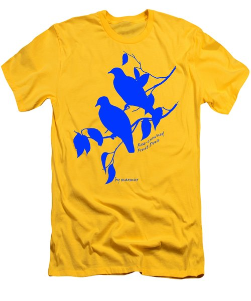 Blue Doves Men's T-Shirt (Slim Fit) by The one eyed Raven
