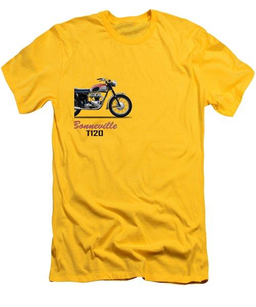 Bonneville T120 1962 Men's T-Shirt (Slim Fit) by Mark Rogan