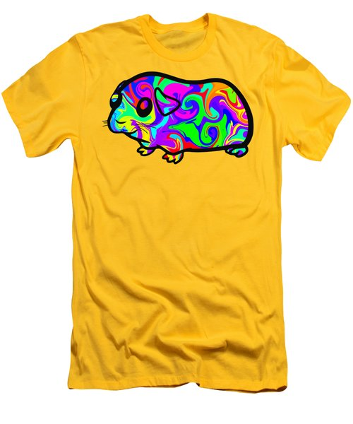 Colorful Guinea Pig Men's T-Shirt (Slim Fit) by Chris Butler