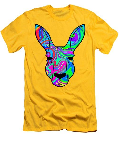 Colorful Kangaroo Men's T-Shirt (Slim Fit) by Chris Butler