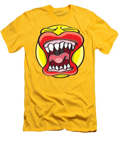 Hungry Pacman Men's T-Shirt (Slim Fit) by Jorgo Photography - Wall Art Gallery