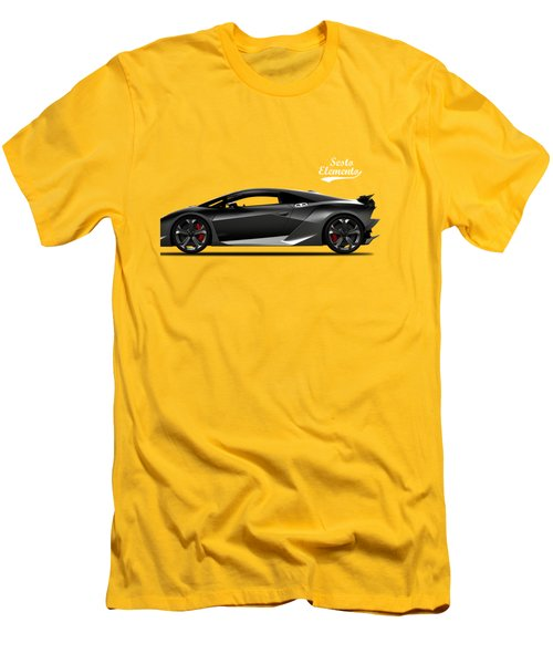 Lamborghini Sesto Elemento Men's T-Shirt (Slim Fit) by Mark Rogan
