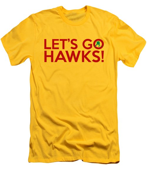 Let's Go Hawks Men's T-Shirt (Slim Fit) by Florian Rodarte