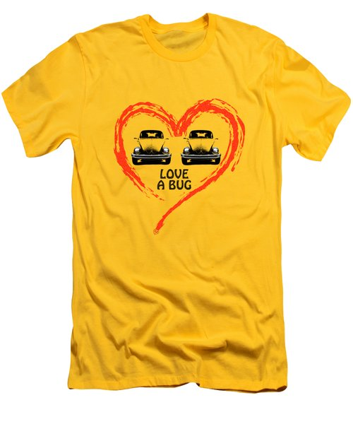 Love A Bug Men's T-Shirt (Slim Fit) by Mark Rogan