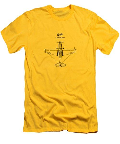 P-40 Warhawk Men's T-Shirt (Slim Fit) by Mark Rogan