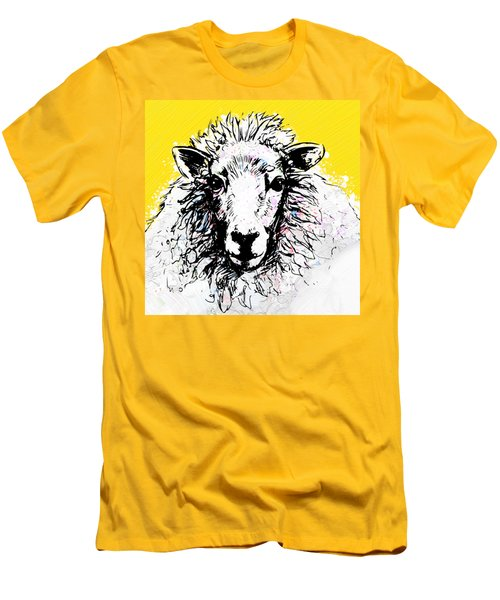 Sheep Men's T-Shirt (Slim Fit) by Tiffany Hunter