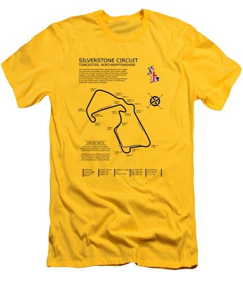 Silverstone Circuit Men's T-Shirt (Slim Fit) by Mark Rogan